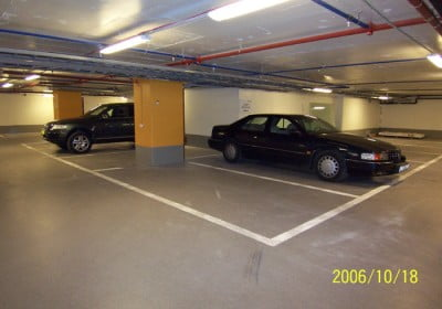 Golvbeläggning garage - Acrydur Industri, Hotel Anglais, Stureplan, Stockholm