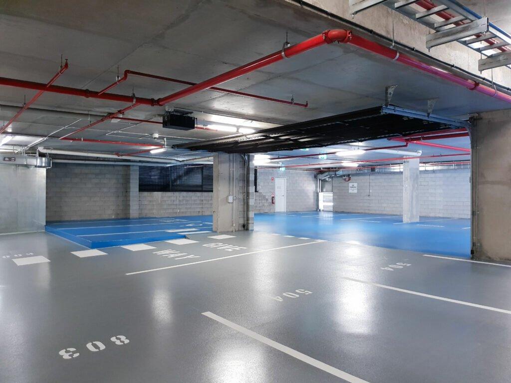 Fogfritt massagolv garagegolv parkeringshus
